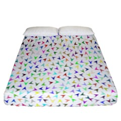 Pointer Direction Arrows Navigation Fitted Sheet (california King Size) by Amaryn4rt