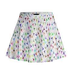 Pointer Direction Arrows Navigation Mini Flare Skirt by Amaryn4rt