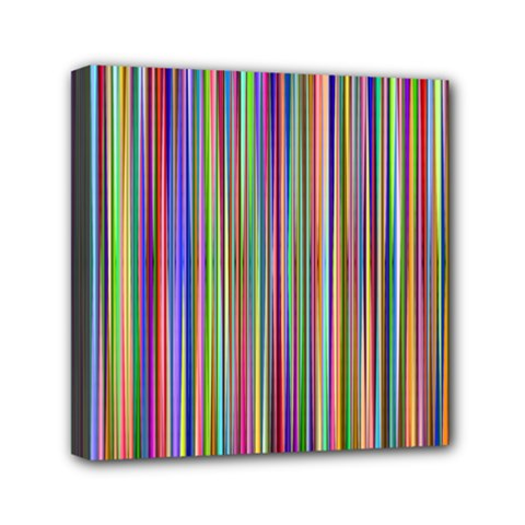 Striped Stripes Abstract Geometric Mini Canvas 6  X 6  by Amaryn4rt