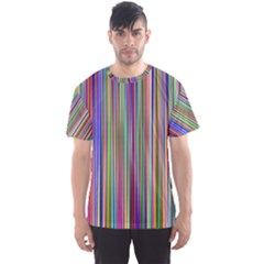 Striped Stripes Abstract Geometric Men s Sport Mesh Tee