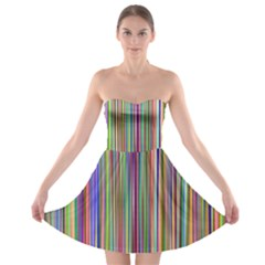 Striped Stripes Abstract Geometric Strapless Bra Top Dress