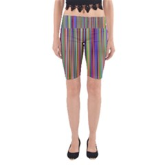 Striped Stripes Abstract Geometric Yoga Cropped Leggings
