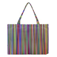 Striped Stripes Abstract Geometric Medium Tote Bag