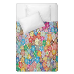 Sakura Cherry Blossom Floral Duvet Cover Double Side (single Size) by Amaryn4rt