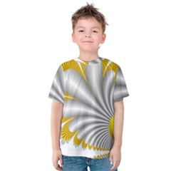 Fractal Gold Palm Tree  Kids  Cotton Tee
