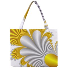 Fractal Gold Palm Tree  Mini Tote Bag