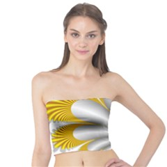 Fractal Gold Palm Tree  Tube Top