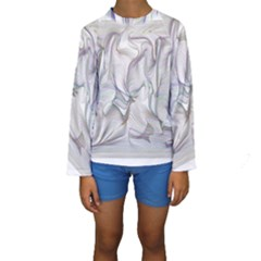 Abstract Background Chromatic Kids  Long Sleeve Swimwear