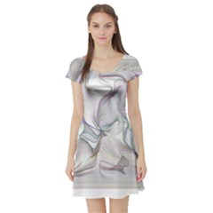 Abstract Background Chromatic Short Sleeve Skater Dress