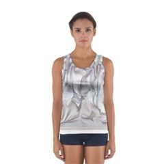 Abstract Background Chromatic Women s Sport Tank Top