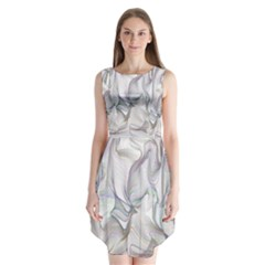 Abstract Background Chromatic Sleeveless Chiffon Dress