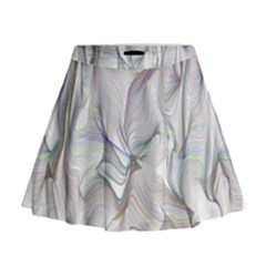 Abstract Background Chromatic Mini Flare Skirt