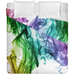Colour Smoke Rainbow Color Design Duvet Cover Double Side (california King Size) by Amaryn4rt