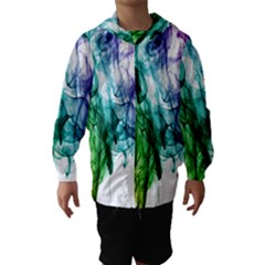Colour Smoke Rainbow Color Design Hooded Wind Breaker (kids) by Amaryn4rt