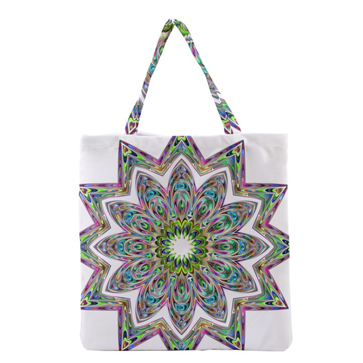 Decorative Ornamental Design Grocery Tote Bag