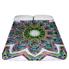 Decorative Ornamental Design Fitted Sheet (queen Size) by Amaryn4rt