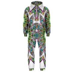 Decorative Ornamental Design Hooded Jumpsuit (men)  by Amaryn4rt