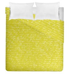 Handwriting  Duvet Cover Double Side (queen Size) by Valentinaart
