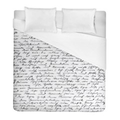 Handwriting  Duvet Cover (full/ Double Size) by Valentinaart