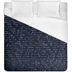 Handwriting Duvet Cover (king Size) by Valentinaart