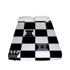 Chess Fitted Sheet (full/ Double Size) by Valentinaart