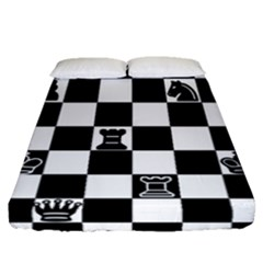Chess Fitted Sheet (queen Size) by Valentinaart