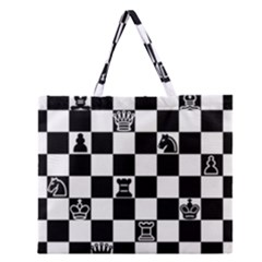 Chess Zipper Large Tote Bag by Valentinaart