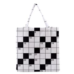 Crosswords  Grocery Tote Bag by Valentinaart