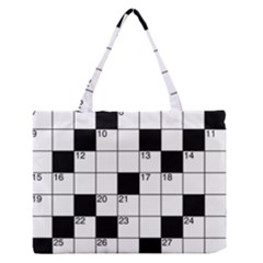Crosswords  Medium Zipper Tote Bag by Valentinaart