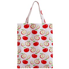 Apple Pattern Zipper Classic Tote Bag by Valentinaart
