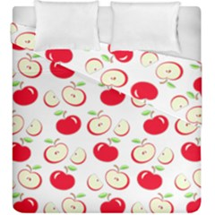 Apple Pattern Duvet Cover Double Side (king Size) by Valentinaart