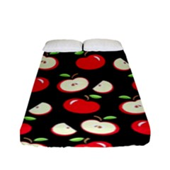 Apple Pattern Fitted Sheet (full/ Double Size) by Valentinaart