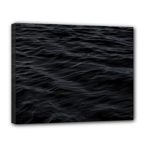 Dark Lake Ocean Pattern River Sea Canvas 14  X 11
