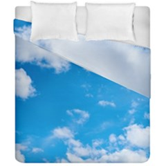 Sky Blue Clouds Nature Amazing Duvet Cover Double Side (california King Size) by Simbadda