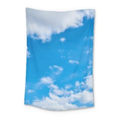 Sky Blue Clouds Nature Amazing Small Tapestry