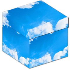 Sky Clouds Blue White Weather Air Storage Stool 12   by Simbadda