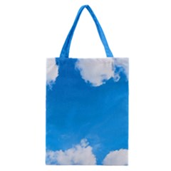 Sky Clouds Blue White Weather Air Classic Tote Bag by Simbadda
