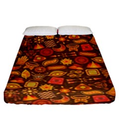 Pattern Background Ethnic Tribal Fitted Sheet (king Size) by Simbadda