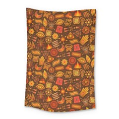 Pattern Background Ethnic Tribal Small Tapestry