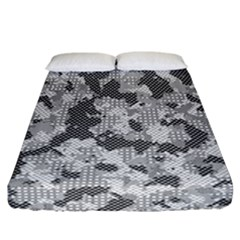 Camouflage Patterns  Fitted Sheet (california King Size) by Simbadda