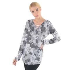 Camouflage Patterns  Women s Tie Up Tee by Simbadda