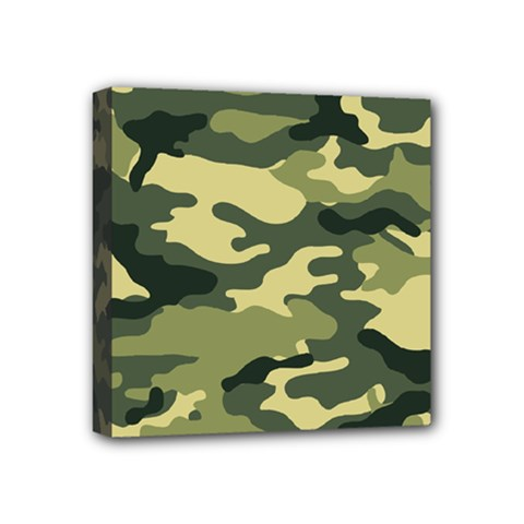 Camouflage Camo Pattern Mini Canvas 4  X 4  by Simbadda