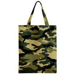 Camouflage Camo Pattern Zipper Classic Tote Bag by Simbadda