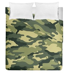 Camouflage Camo Pattern Duvet Cover Double Side (queen Size) by Simbadda