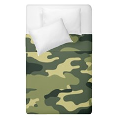 Camouflage Camo Pattern Duvet Cover Double Side (single Size) by Simbadda
