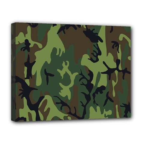 Military Camouflage Pattern Canvas 14  X 11
