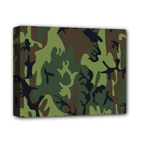 Military Camouflage Pattern Deluxe Canvas 14  X 11
