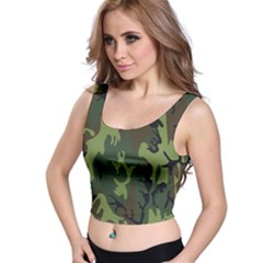 Military Camouflage Pattern Crop Top