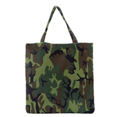 Military Camouflage Pattern Grocery Tote Bag by Simbadda