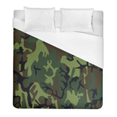Military Camouflage Pattern Duvet Cover (full/ Double Size) by Simbadda